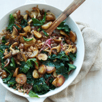 Sunchoke Kale Hash with Farro recipe
